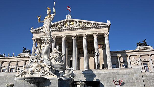 Das Parlament wird saniert  - der Rechnungshof nimmt das Projekt unter die Lupe. (Bild: Klemens Groh)