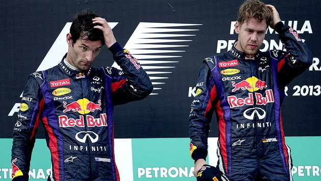 """Vettel wird Webber vermissen: """"Haben uns gepusht"""" (Bild: EPA)"""