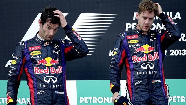 Webber-Adieu auch persönlicher Verlust für Vettel (Bild: EPA)