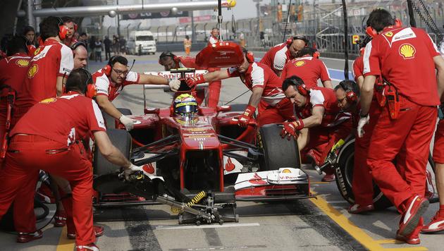 Massa am Freitag Tagesschnellster, Vettel Zehnter (Bild: AP)
