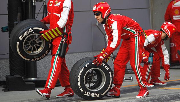 Reifen auch heuer wieder Reizthema in der Formel 1 (Bild: EPA)