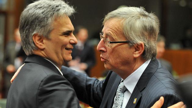 Juncker mit Kanzler Werner Faymann (Bild: APA/HOPI MEDIA/Bernhard J. Holzner)