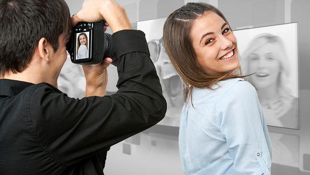 So zeigen Sie sich auf Fotos von Ihrer Schokoladenseite (Bild: thinkstockphotos.de, krone.at-Grafik)