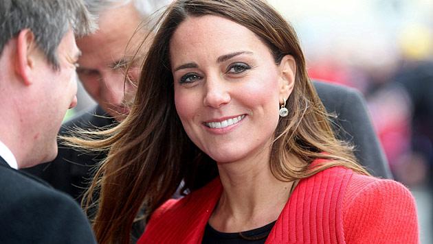 Mutet sich die schwangere Kate etwa zu viel zu? (Bild: AP)