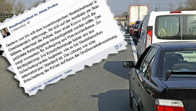 """Fischer: """"Lotsung war Entscheidung der Polizei"""" (Bild: REINHARD HOLL, Screenshot Facebook)"""