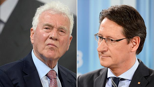 Stronach gegen Bucher: Verfahren nun eingestellt (Bild: APA/HANS KLAUS TECHT, HERBERT NEUBAUER)