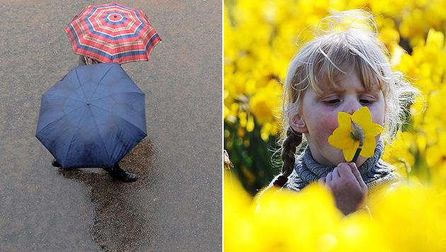 Regen und Schnee: April bleibt unbeständig (Bild: EPA)