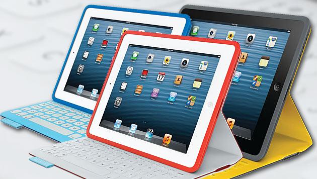 Logitech stellt edle Tastatur-Hülle für das iPad vor (Bild: Logitech, krone.at-Grafik)