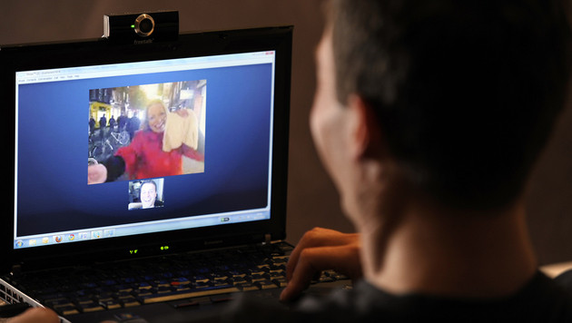 Mann in USA: Saudisches Paar heiratete via Skype (Bild: Skype)