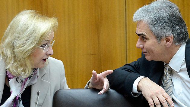 Hypo-Pleite: ÖVP bremst bei der Bankenabgabe (Bild: APA/Robert Jaeger)