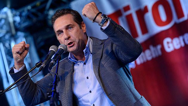 Tirol-Wahl: Strache warf sich letztmals ins Gefecht (Bild: APA/Thomas Böhm/Tiroler Tageszeitung)