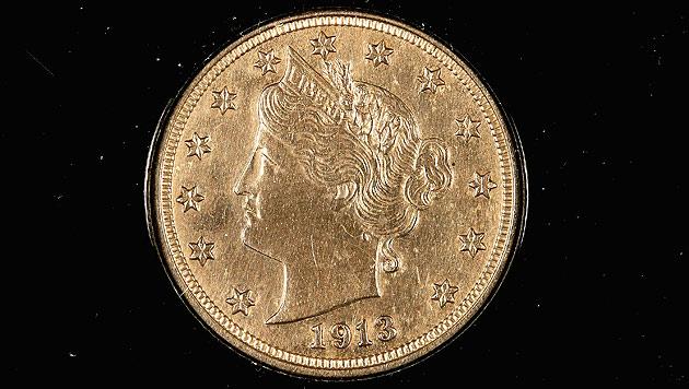 Fünf-Cent-Münze brachte bei Auktion drei Millionen Dollar (Bild: AFP)