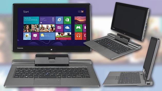 Windows-8-Hybrid für Profi-Nutzer von Toshiba (Bild: Toshiba, krone.at-Grafik)