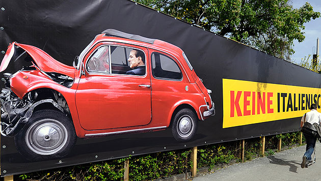Berlusconi-Partei protestiert gegen ÖVP-Plakat (Bild: APA/ROBERT PARIGGER)