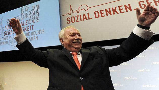 Wiener SPÖ-Parteitag: Häupl wiedergewählt (Bild: APA/Herbert P. Oczeret)