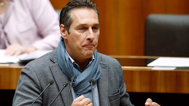 """FP-Chef Strache: """"Niederzufallen ist keine Schande"""" (Bild: APA/GEORG HOCHMUTH)"""