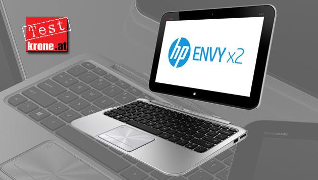 HP Envy x2: Tablet und Notebook mit Abstrichen (Bild: HP, krone.at-Grafik)