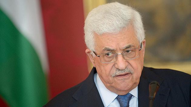 """Abbas in Wien: """"Wir wollen in Frieden neben Israel leben"""" (Bild: APA/ROLAND SCHLAGER)"""