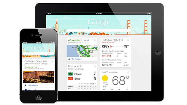 Google erweitert iPhone-App und konkurriert mit Siri (Bild: Google)