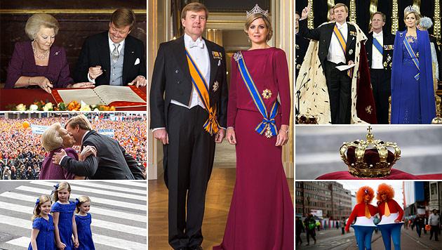 Willem-Alexander ist nun König: Die besten Momente (Bild: EPA, AP)