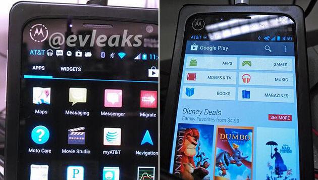 Erste Bilder von Motorolas X-Phone durchgesickert (Bild: evleaks)