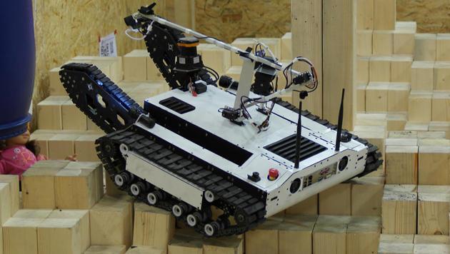 Kärntner Rettungs-Roboter überzeugte bei Robo-Bewerb (Bild: FH Kärnten)