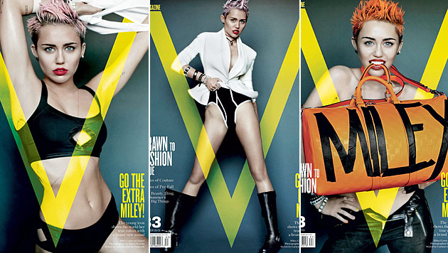 """Miley Cyrus sexy wie nie im aktuellen """"V""""-Magazin (Bild: Viennareport)"""