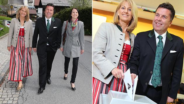 """Spitzenkandidaten gaben Stimme ab: """"Schlüsseltag"""" (Bild: APA/FRANZ NEUMAYR)"""