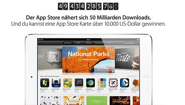 App Store steuert auf 50-milliardsten Download zu (Bild: Screenshot Apple.com)