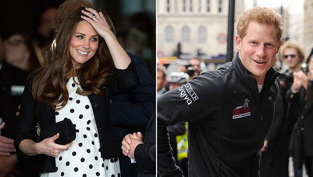 Harry plauderte: Wird Kates Baby doch ein Bub? (Bild: AP, EPA)