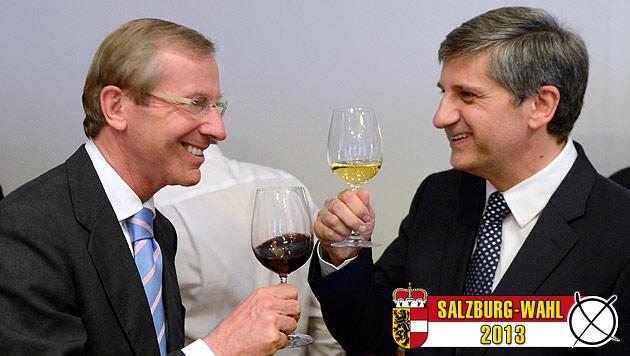 "ÖVP feiert Erfolg: Burgstaller-Ära als ""verlorene Jahre"" (Bild: APA/ROBERT JAEGER)"