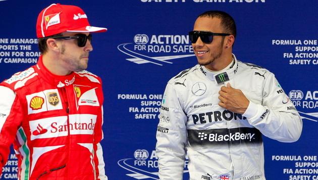 Alonso & Hamilton sind die am besten bezahlten Piloten (Bild: EPA)