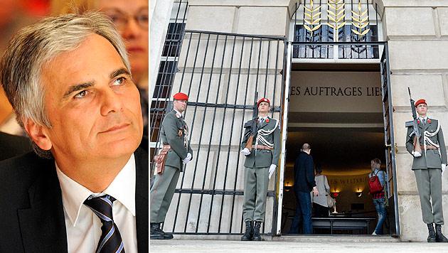 Faymann: 8. Mai ist Tag der Befreiung, nicht der Niederlage (Bild: APA/Robert Parigger, APA/Herbert Neubauer)