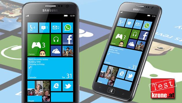 Samsung Ativ S: Mittelklasse mit Windows Phone 8 (Bild: Samsung, krone.at-Grafik)