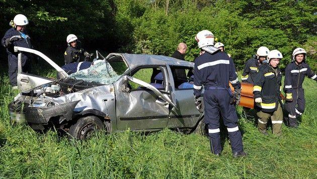 Ehepaar bei Autounfall in NÖ tödlich verunglückt (Bild: APA/PAUL PLUTSCH)