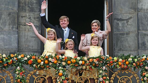 Amalia: Die jüngste Thronfolgerin der Welt (Bild: AP)