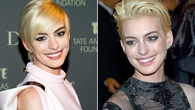 Da war Anne Hathaway kurzfristig blond. (Bild: AP, EPA)