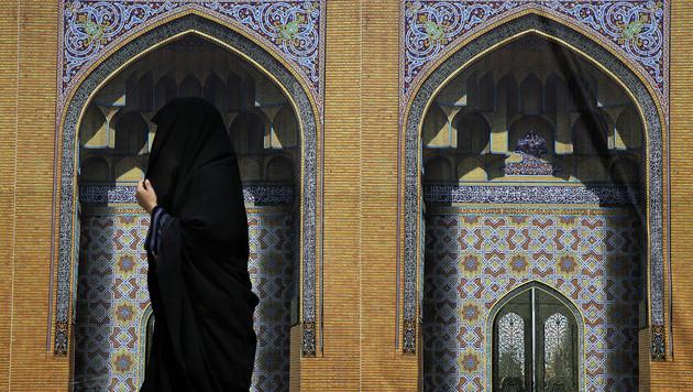Die verschleierten Schönheiten des Iran (Bild: AP)