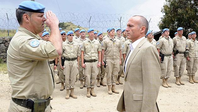 """Golan-Soldaten zu Klug: """"Haben die Lage im Griff"""" (Bild: APA/Bundesheer/Gunter Pusch)"""