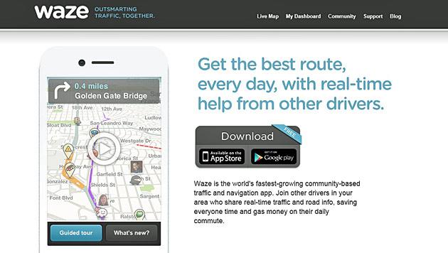 Kauf von Navi-Dienst Waze durch Facebook geplatzt (Bild: Screenshot waze.com)