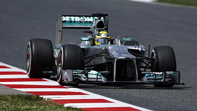 Mercedes dominiert Quali: Rosberg holt Pole vor Hamilton (Bild: AP)