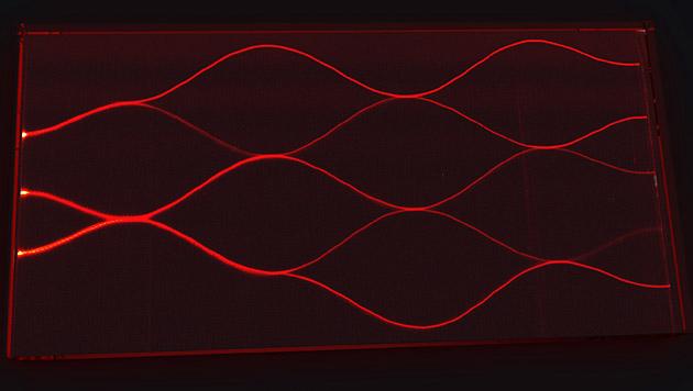 Quantencomputer aus Wien rechnet mit Lichtteilchen (Bild: Philip Walther Gruppe, Universität Wien)