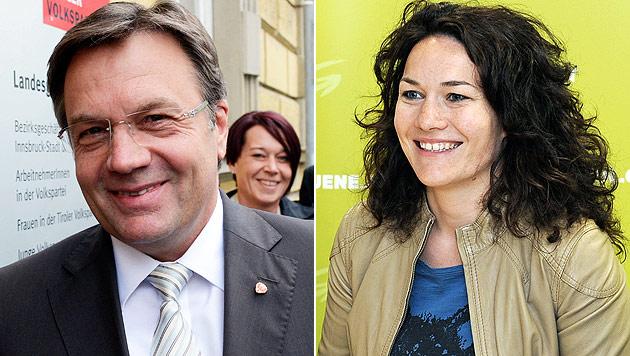 Schwarz-grüne Koalition in Tirol ist beschlossene Sache (Bild: APA/Thomas Böhm/Tiroler Tageszeitung, APA/Robert Parigger)