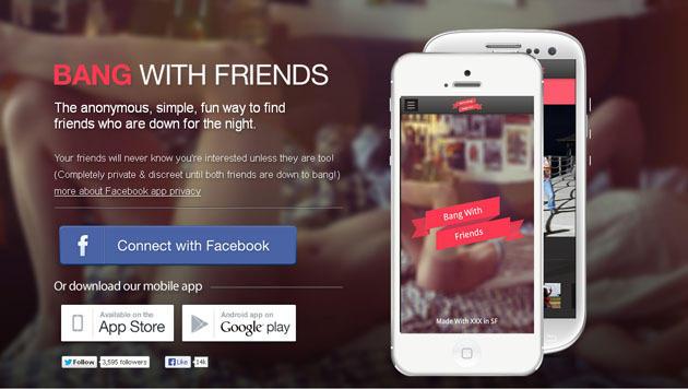 Umstrittenes Tool für Sextreffen wagt Sprung aufs Handy (Bild: Screenshot, bangwithfriends.com)