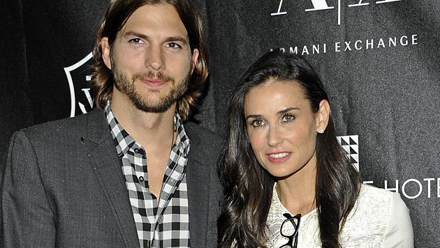 Ashton Kutcher und Demi Moore: Streit ums Geld entfacht (Bild: EPA)