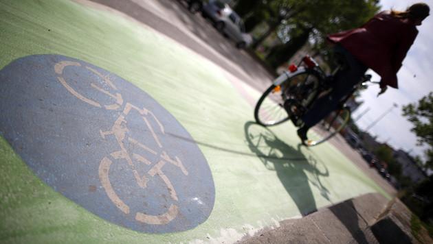 """Grüne Farbe auf Radwegen laut Expertise """"Erfolg"""" (Bild: APA/GEORG HOCHMUTH)"""