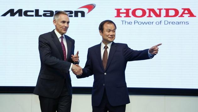 Honda beliefert ab 2015 McLaren wieder mit Motoren (Bild: EPA)
