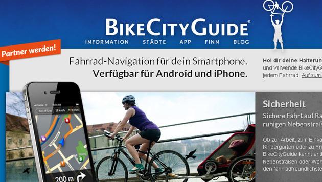 Austro-App für Radfahrer ist auf Expansionskurs (Bild: Screenshot, bikecityguide.org/de)