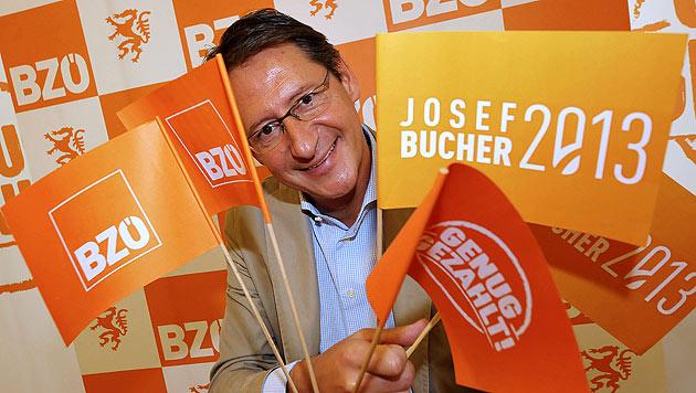 """""""Genug gezahlt!"""": BZÖ-Bucher geht auf Wahlkampftour (Bild: APA/Elmar Gubisch)"""