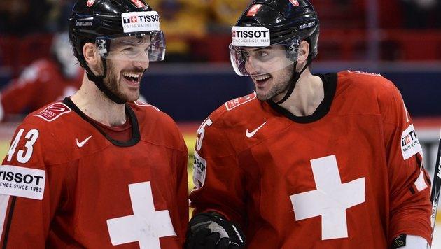 Schweizer Märchen geht weiter: Finale gegen Schweden (Bild: AP)